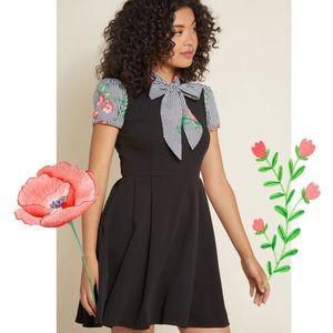 Modcloth Your Zest Best A Line Dress in Black XL
